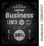 chalkboard business lunch...   Shutterstock .eps vector #150816917