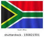 South Africa Flag With Title O...