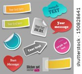 colorful stickers | Shutterstock .eps vector #150828641