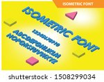 modern isometric alphabet font. ... | Shutterstock .eps vector #1508299034