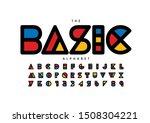 vector of stylized modern font... | Shutterstock .eps vector #1508304221