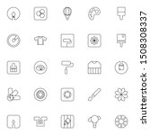 ui and ux related linear icon...
