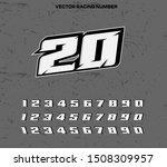 vector racing number designs... | Shutterstock .eps vector #1508309957