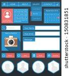 flat user interface design kit