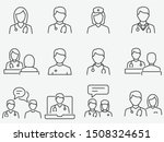 doctor and nurse line icons set.... | Shutterstock .eps vector #1508324651