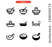 soup icon isolated sign symbol... | Shutterstock .eps vector #1508330174