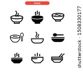 soup icon isolated sign symbol... | Shutterstock .eps vector #1508330177