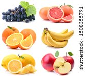 fruits on a white background | Shutterstock . vector #1508355791