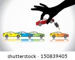 care sale or car key concept... | Shutterstock .eps vector #150839405