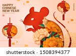 happy the year of rat with... | Shutterstock .eps vector #1508394377