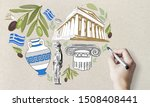 Travel to greece concept with...