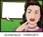 illustration of a pop art style ... | Shutterstock .eps vector #150841871