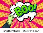 halloween greeting card in pop... | Shutterstock .eps vector #1508441564