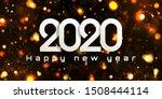 bokeh sparkle christmas 2020...   Shutterstock .eps vector #1508444114