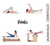 women doing pilates with...   Shutterstock .eps vector #1508451137