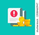 money error warning alert on... | Shutterstock .eps vector #1508460947