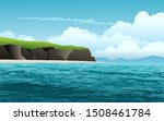 Coast Scene Landscape With Cliff