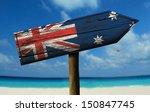 Australia Flag Wooden Sign Wit...
