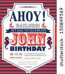 Nautical Birthday Card Design
