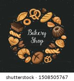 bakery shop banner design.... | Shutterstock .eps vector #1508505767