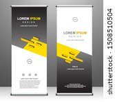 roll up banner vertical...   Shutterstock .eps vector #1508510504