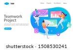teamwork project vector... | Shutterstock .eps vector #1508530241