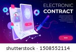 electronic contract web banner  ... | Shutterstock .eps vector #1508552114