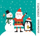 cute santa clause  snowman and...   Shutterstock .eps vector #1508562911