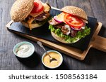 Chicken Burgers Of Buns With...