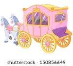 the carriage for true princess | Shutterstock .eps vector #150856649
