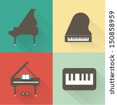 Vector Piano Icons