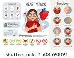 vector medical poster heart...   Shutterstock .eps vector #1508590091