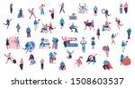 bundle of cartoon men and women ... | Shutterstock .eps vector #1508603537