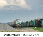 Train Standing On Siding On A...