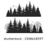 beautiful hand drawn forest fir ... | Shutterstock .eps vector #1508618597