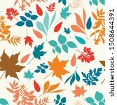autumn rustic vector pattern... | Shutterstock .eps vector #1508644391