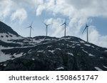 Wind Turbines On An Alpine Pass ...