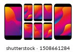 set of colorful abstract...