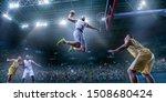 Basketball Players On Big...