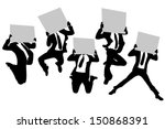silhouettes of business man... | Shutterstock .eps vector #150868391
