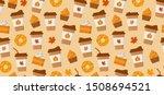 pumpkin spice latte season.... | Shutterstock .eps vector #1508694521