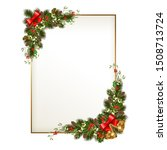 merry christmas greeting card... | Shutterstock .eps vector #1508713724