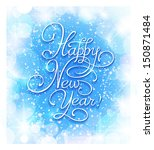 new year greeting card. hand... | Shutterstock .eps vector #150871484