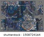 antique effect classic ottoman... | Shutterstock .eps vector #1508724164