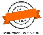 blank label. blank orange band... | Shutterstock .eps vector #1508724281