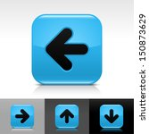 arrow icon set blue glossy web...