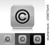 copyright icon gray color...