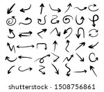 hand drawn arrow set  direction ... | Shutterstock .eps vector #1508756861