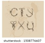 letters in the form of insects... | Shutterstock .eps vector #1508776607