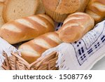 bread assortment in a basket.... | Shutterstock . vector #15087769